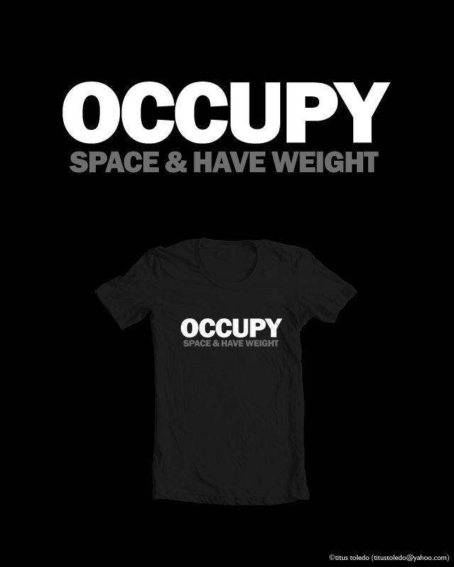 occupy space and have weight by titus toledo