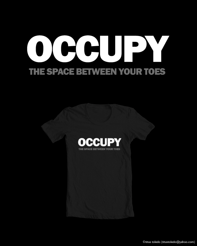 occupy the space between your toes by titus toledo